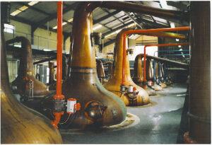 Pot stills at the Glenfiddich distillery